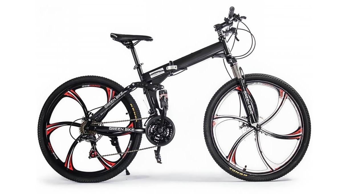 прогулочный велосипед с «литыми дисками»