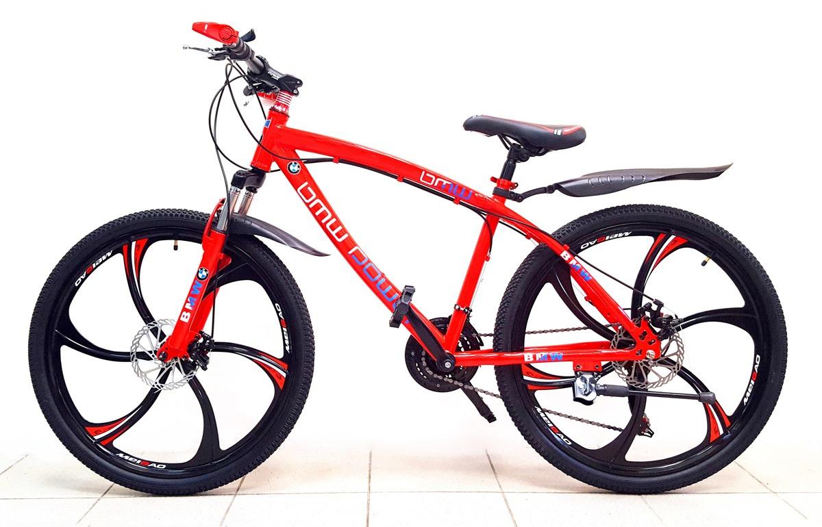 велосипед БМВ на литых дисках