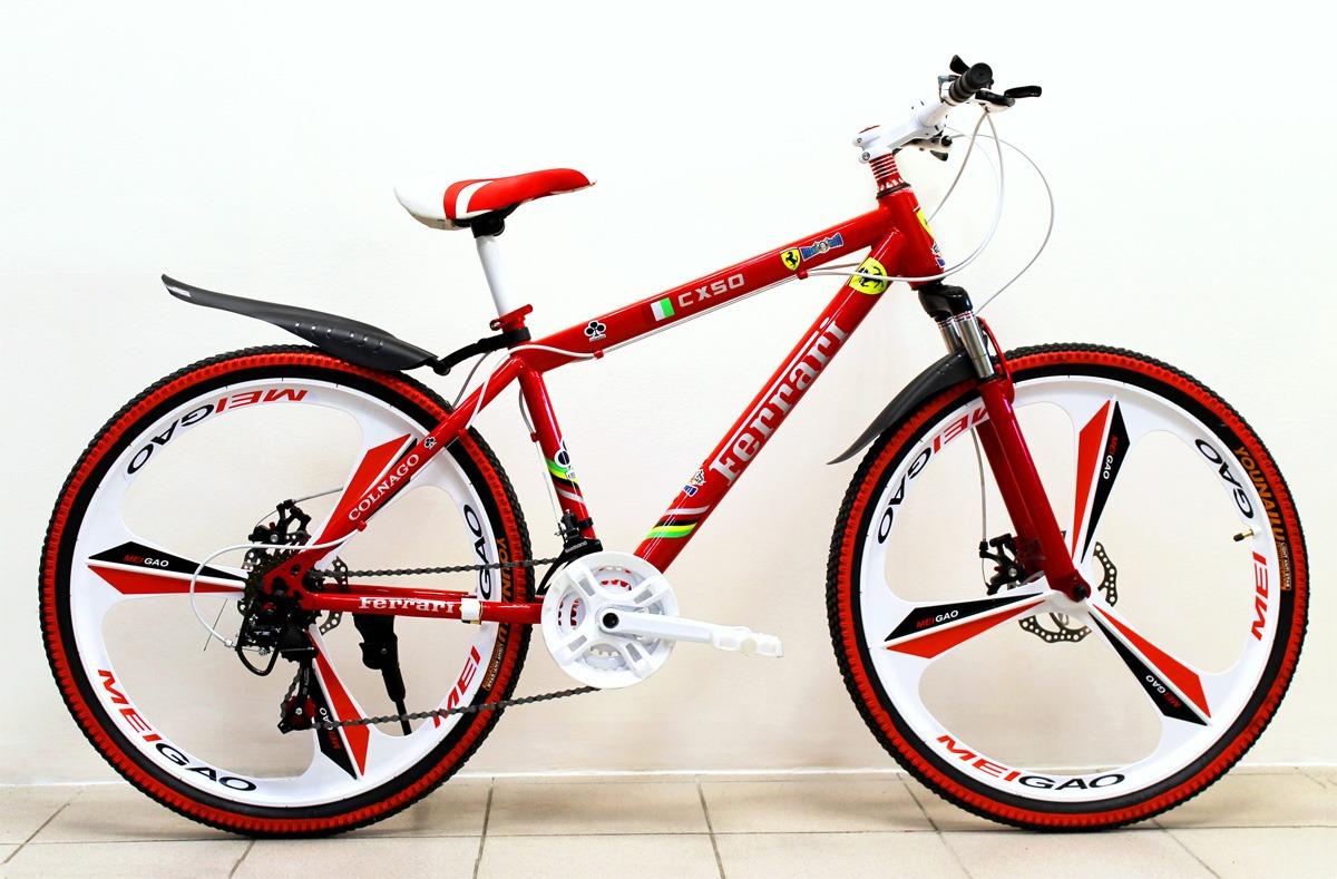 велосипед Ferrari с литыми дисками