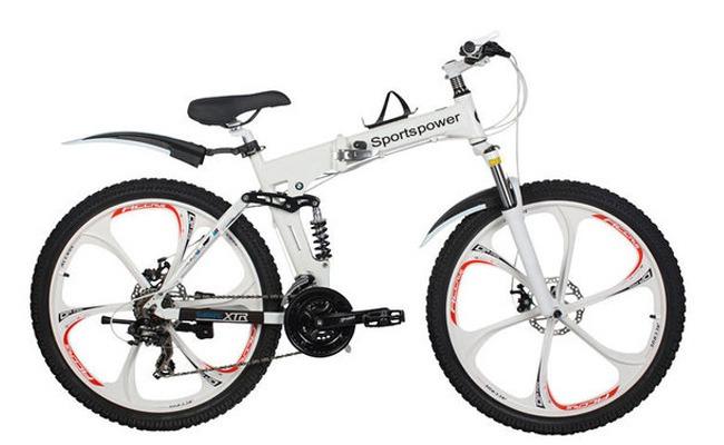 складной велосипед с литыми колесными дисками