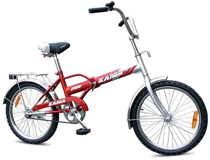 современный складной велосипед Kama