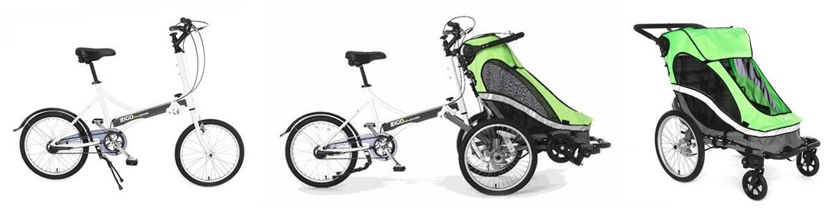 Велоколяска для мамы с ребёнком Zigo Leader
