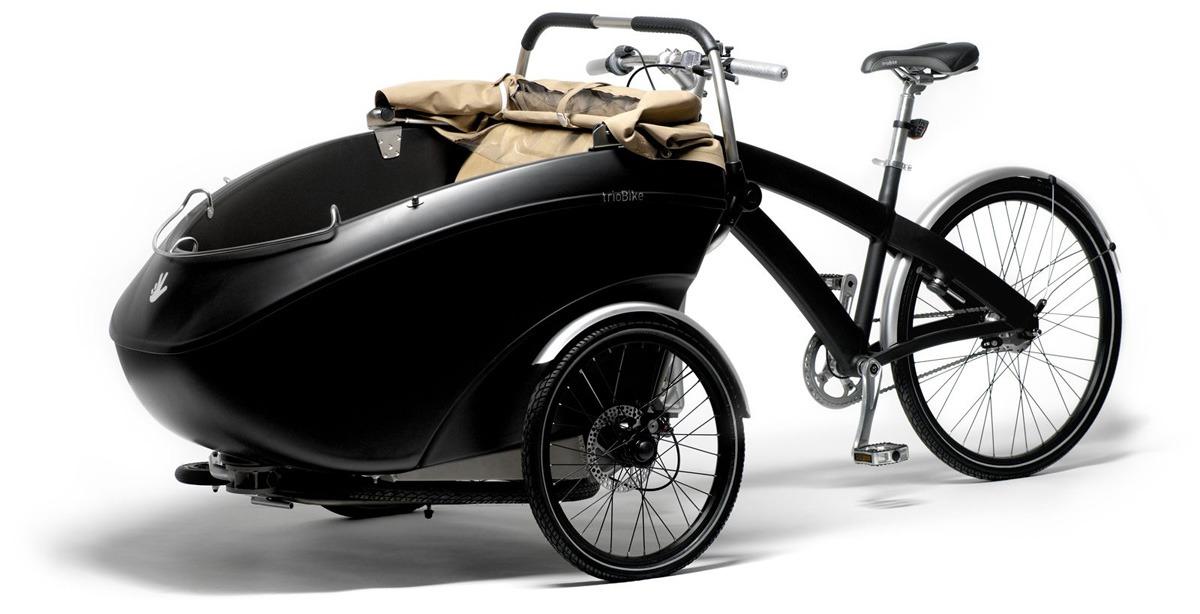 Triobike Mono (велоколяска для мамы с ребёнком)