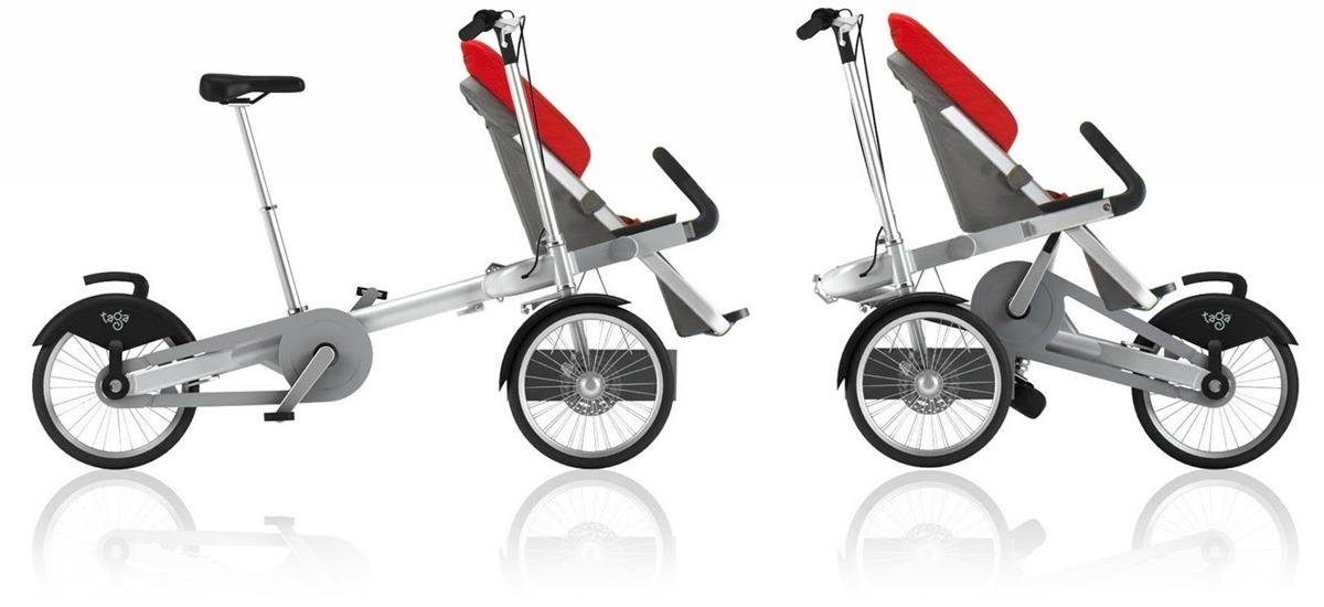как велосипед и как коляска