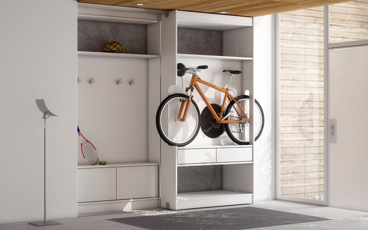 специальный шкаф для велосипеда