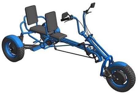 трёхколёсный самодельный веломобиль