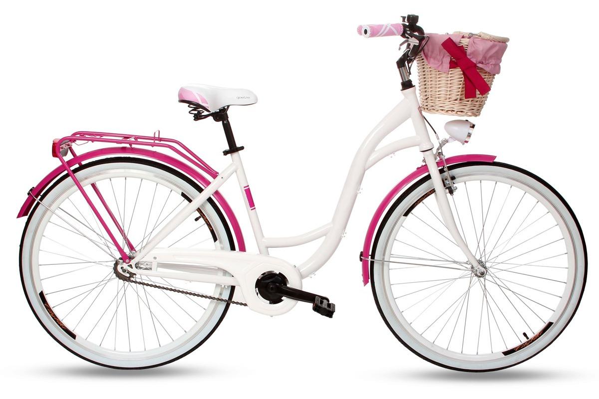 женский велосипед с корзинкой
