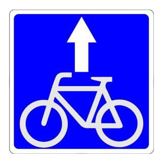 знак 5.14.2 (полоса для велосипедистов)