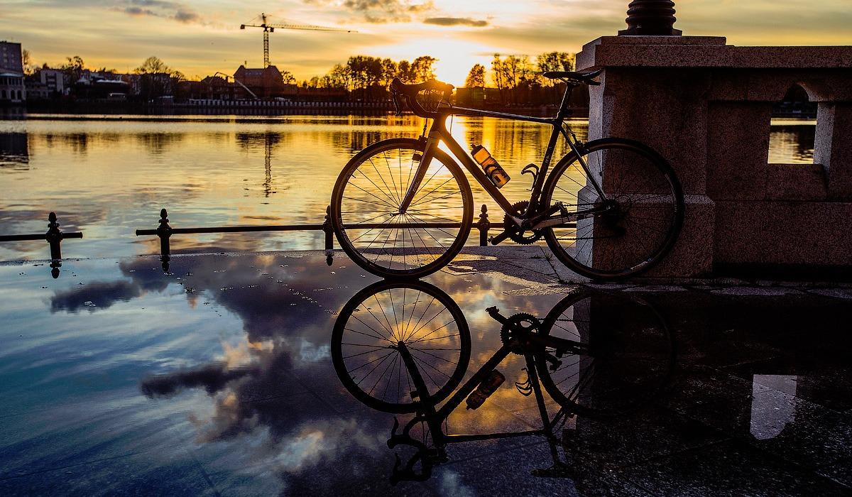 велосипед ранней весной