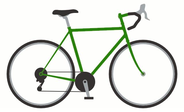 типовой шоссейный велосипед
