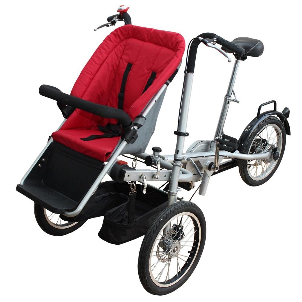 трехколесный велосипед-коляска для матери с ребёнком