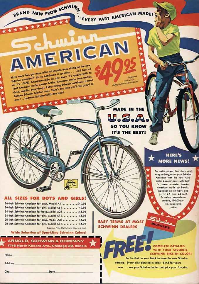 рекламный плакат Швин (начало XX века)