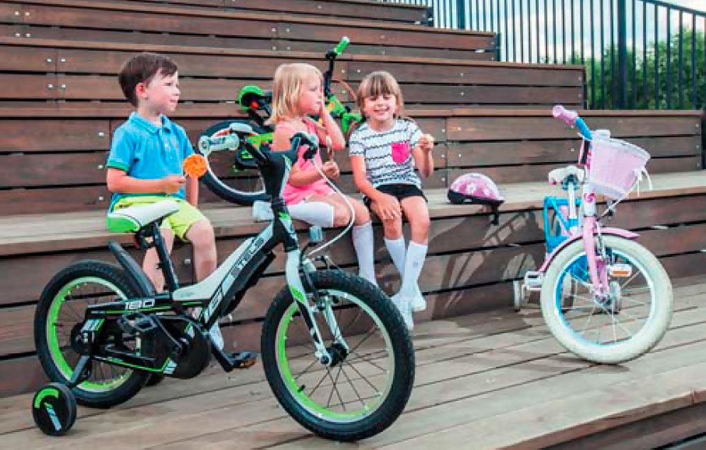 дети и велосипеды Stels